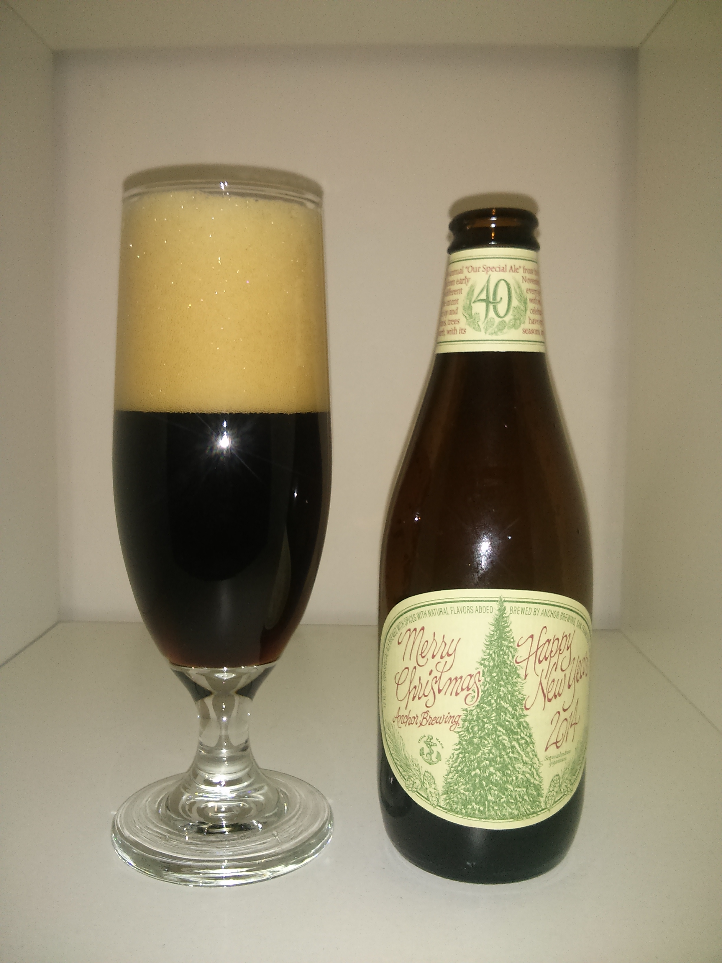 Anchor Winter Warmer Abv 5 5 Anchor Brewing Merry Christmas Happy New Year 2014 Winter